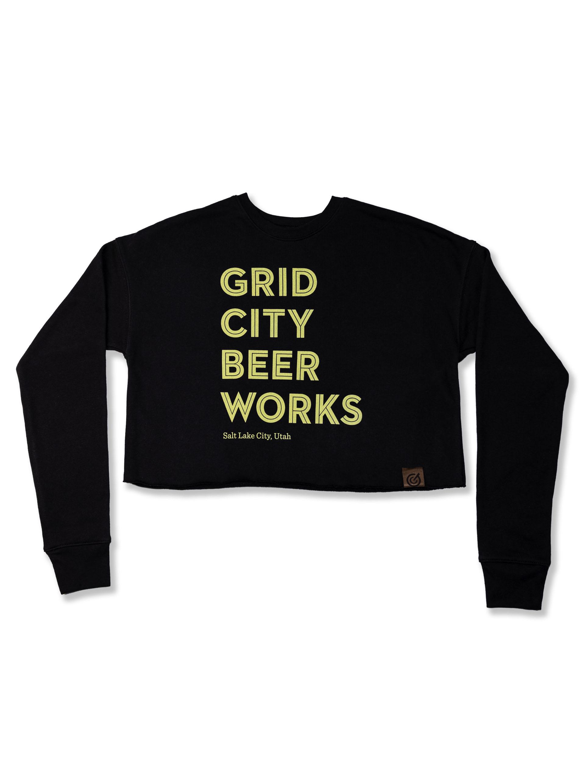 Black & Yellow Crop Sweater