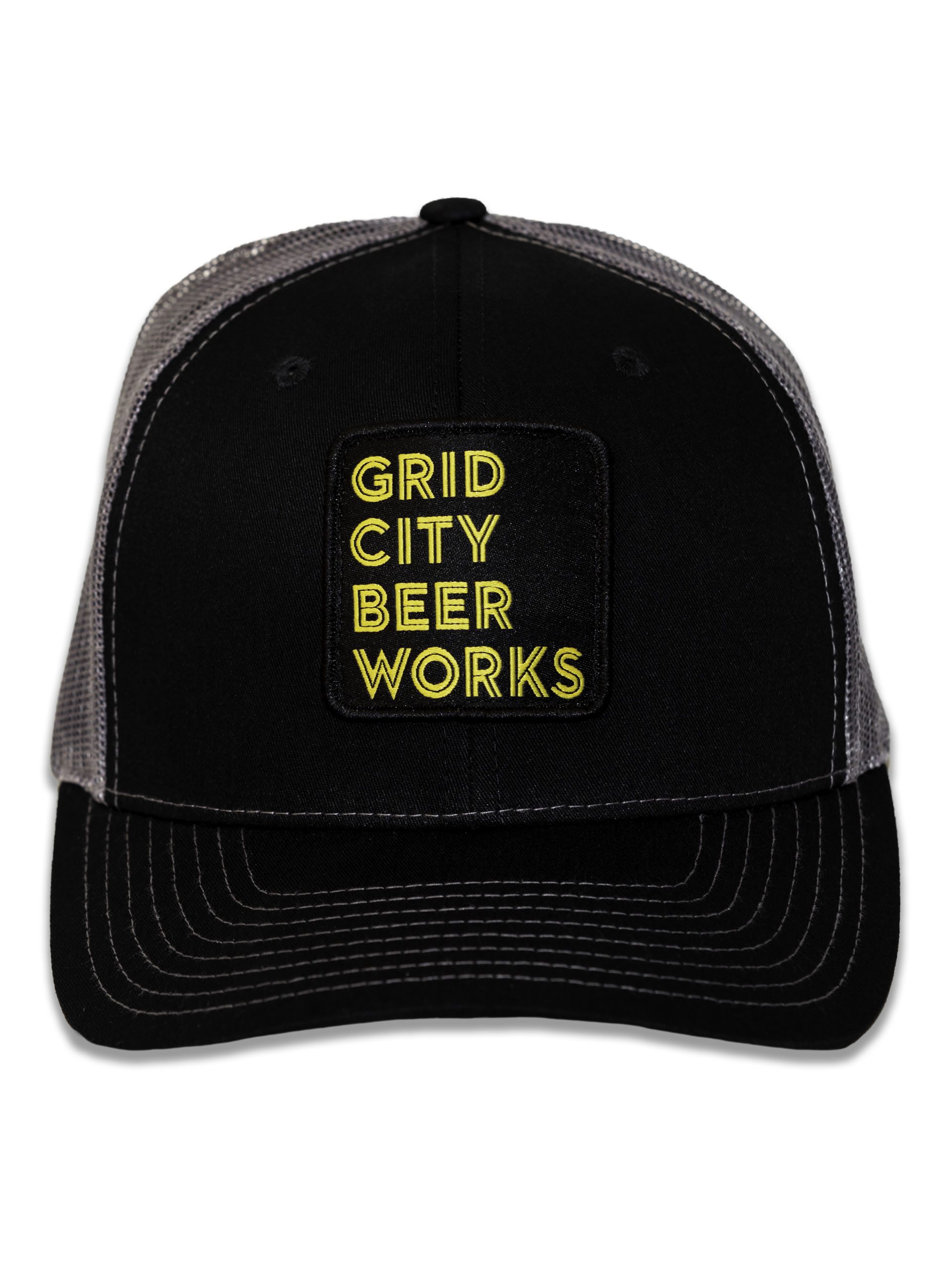Black Mesh Stacked GCBW Patch Hat