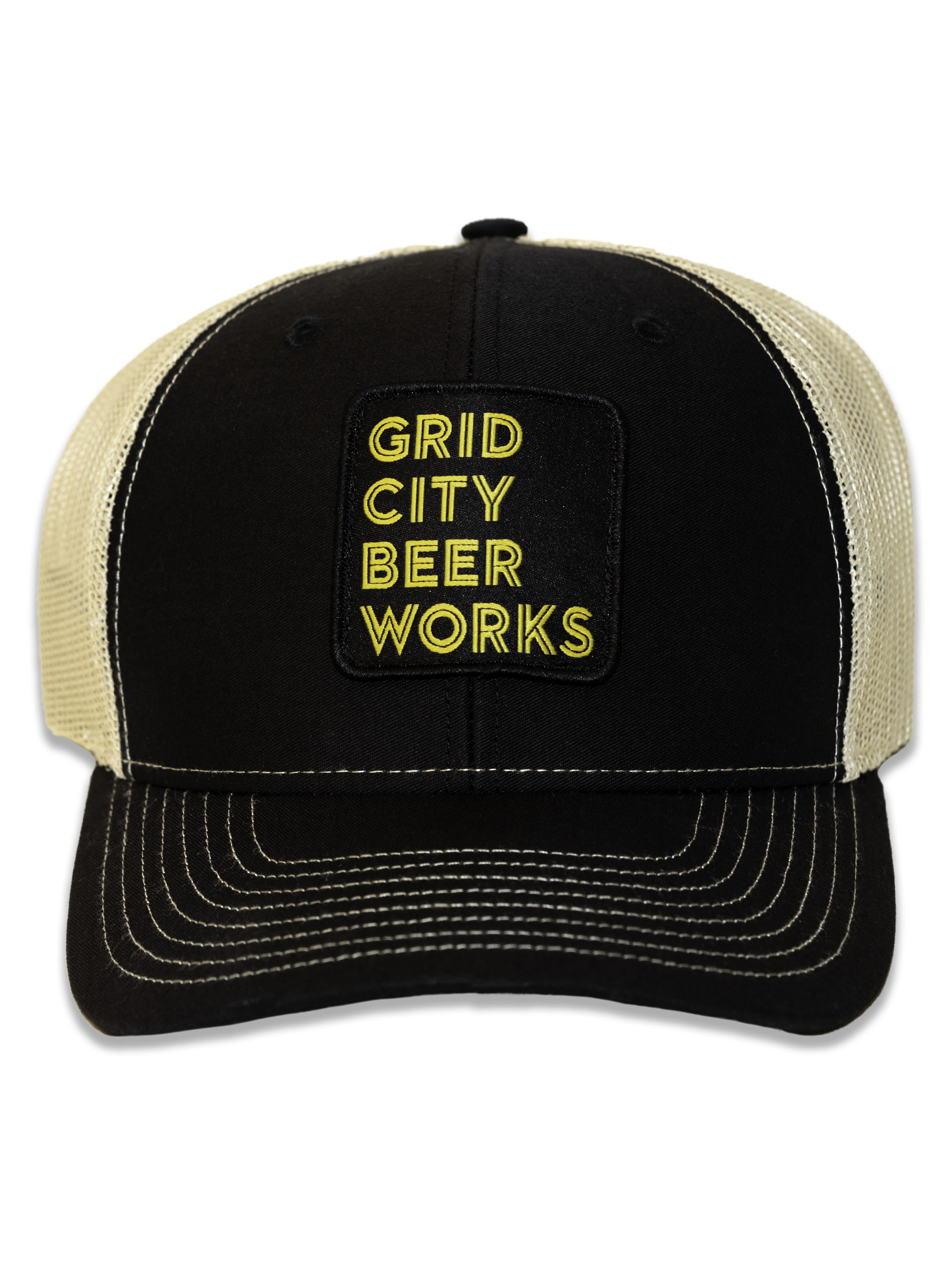 Black/Yellow Mesh Stacked GCBW Patch Hat