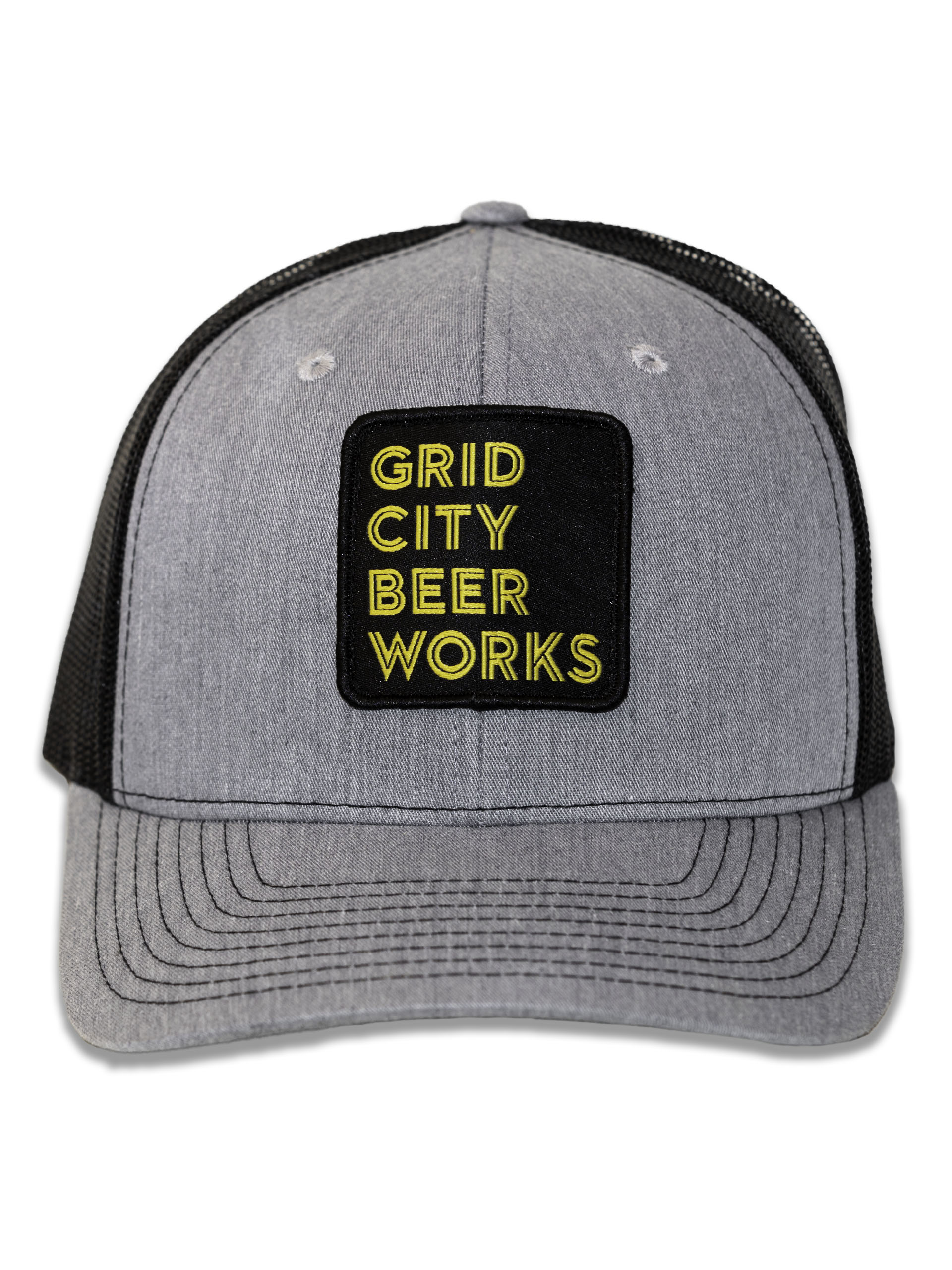 Grey Mesh Stacked GCBW Patch Hat
