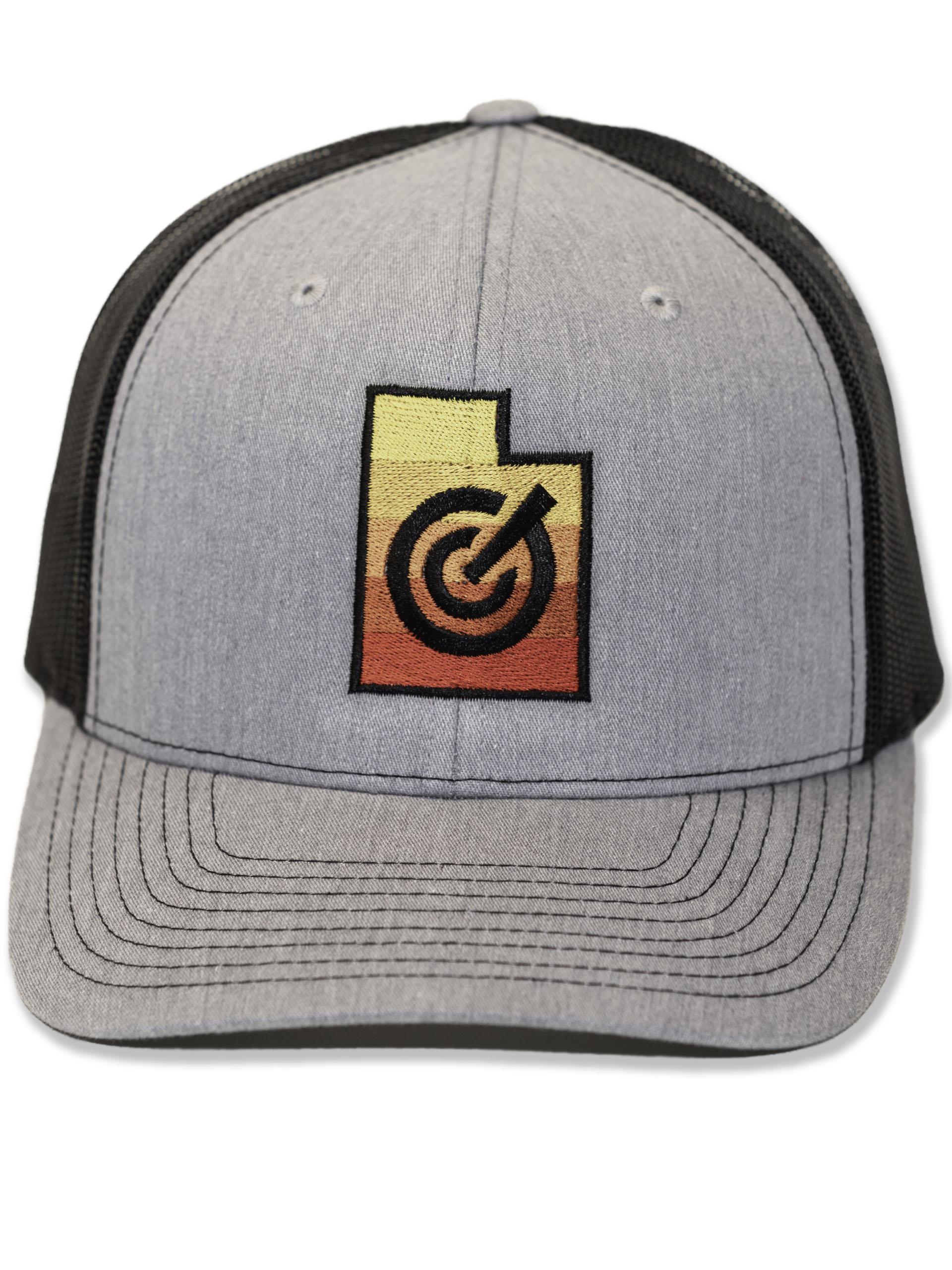 Grey Mesh Utah State Hat